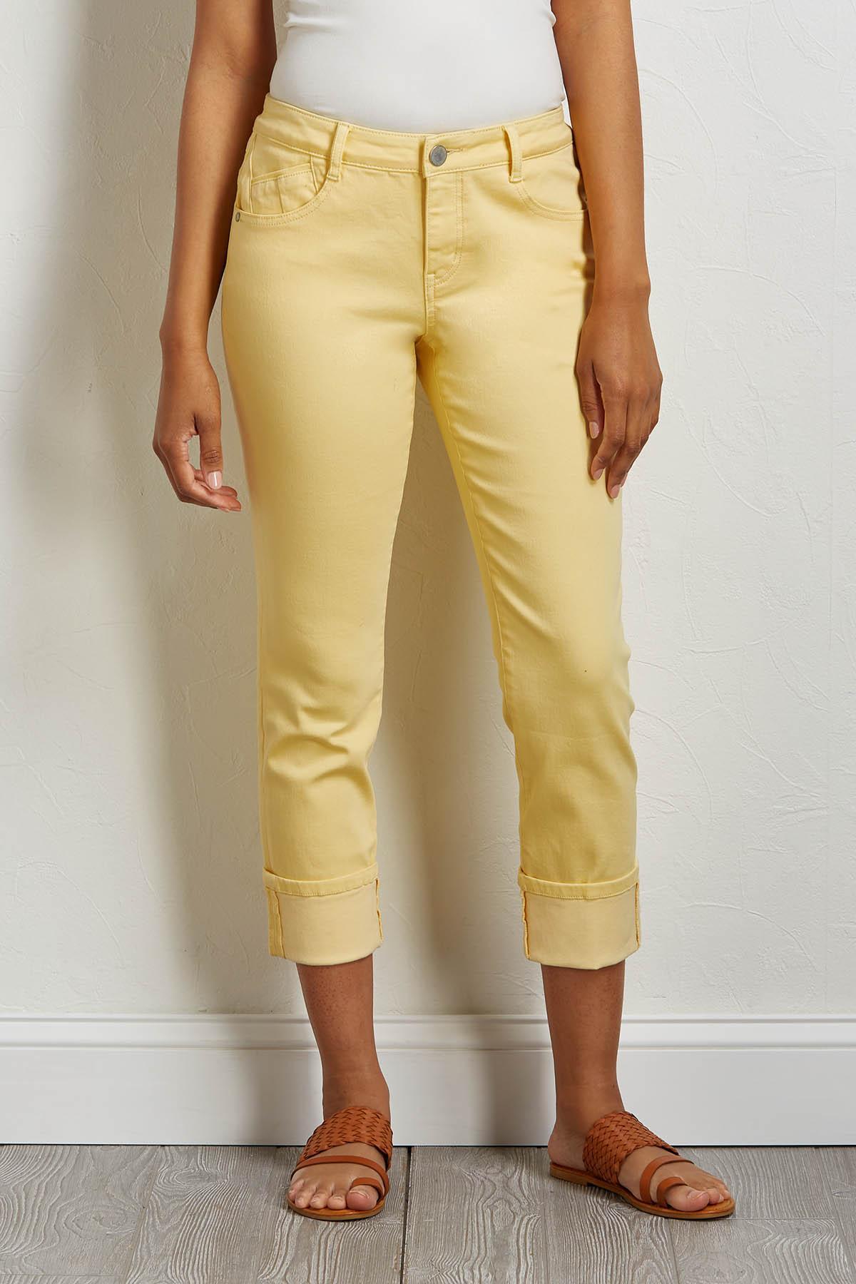 Cropped Shape Enhancing Girlfriend Jeans