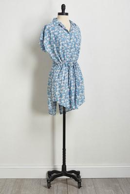 flamingo chambray dress