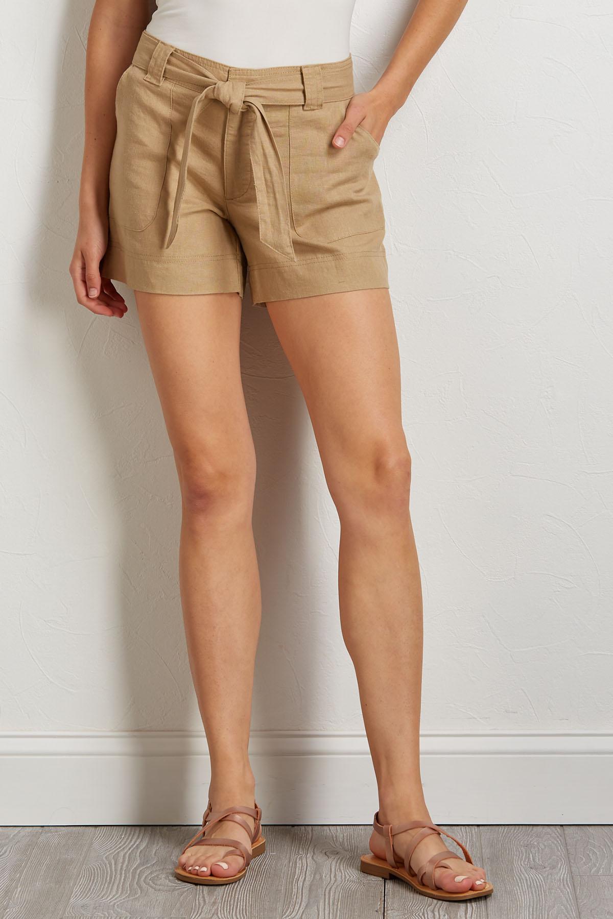 18ef08fc875b Versona | tie waist utility shorts
