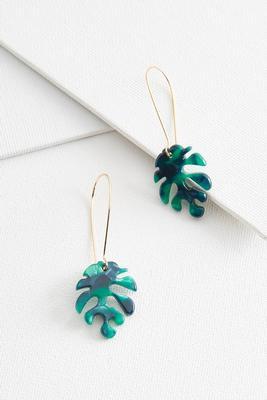 lucite leaf earrings