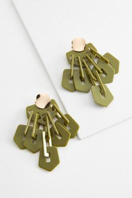 mixed lucite link earrings