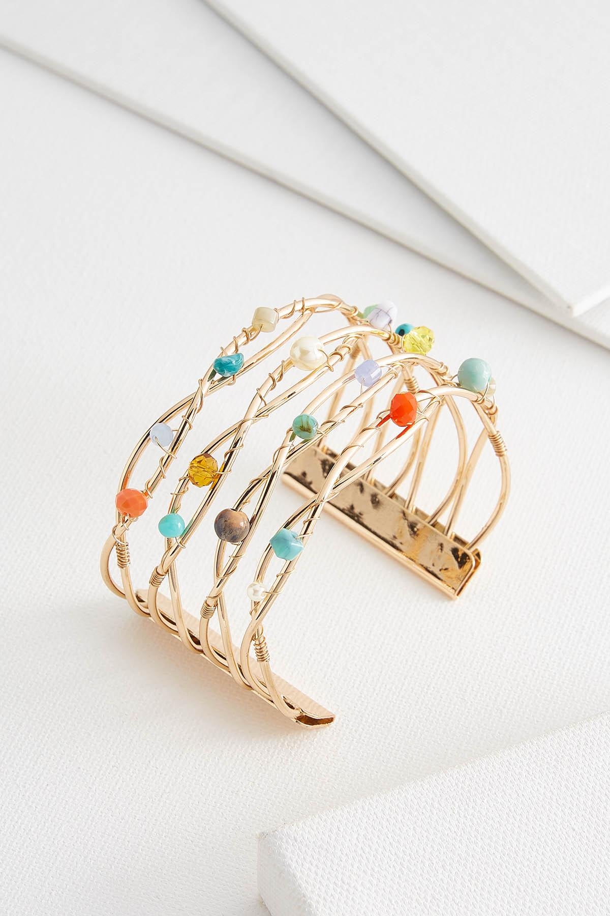 Multi Bead Wire Cuff
