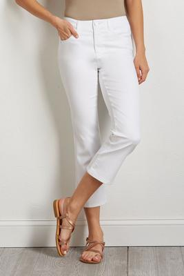 white kick flare pants