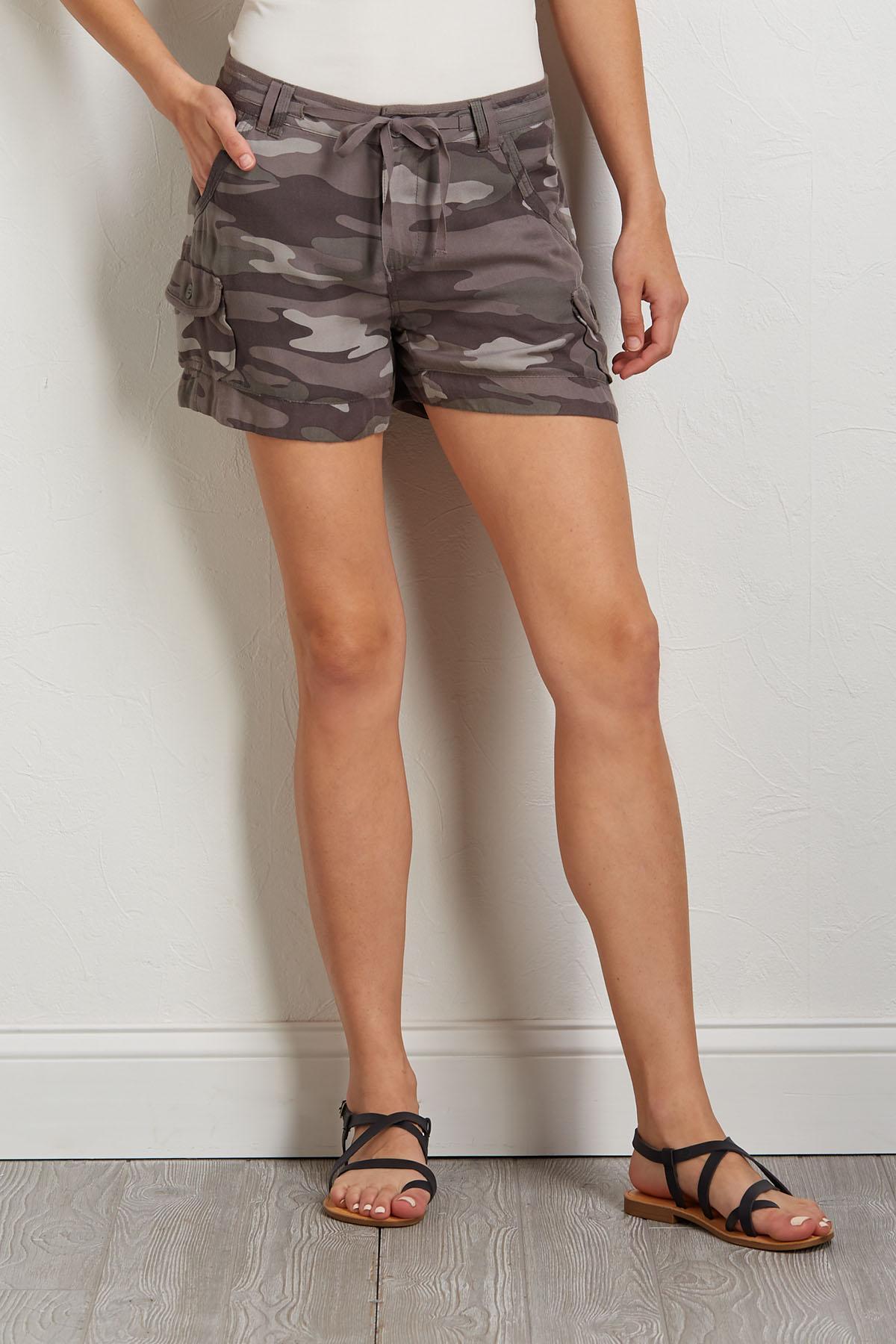 Camo Tie Shorts