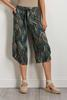 Cropped Palm Print Pants