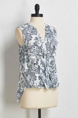 paisley twist front tank
