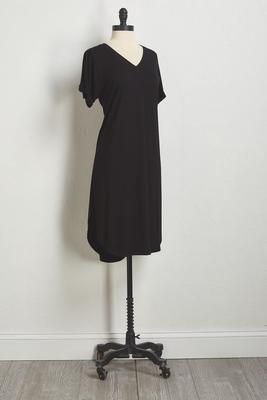 solid tee shirt midi dress