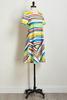 Multi Brushed Stripe Shift Dress