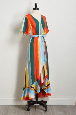 painted rainbow maxi dress