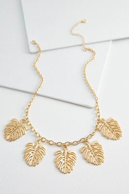 shaky palm leaf necklace