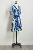 Blue Ruffled Tie Waist Dress