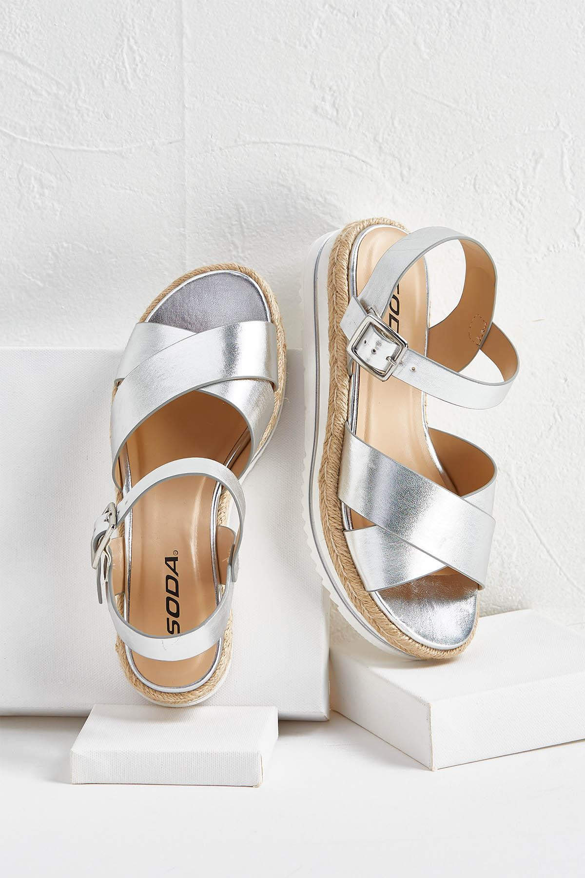Metallic Espadrille Sandals