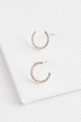 pave c shaped studs