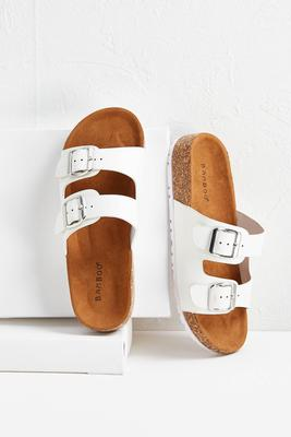 dual buckle sandals