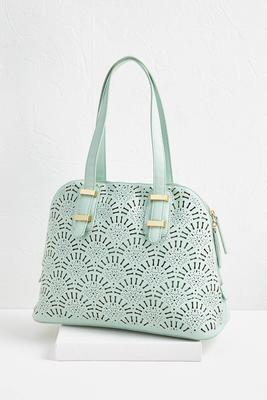 mint cutout bag