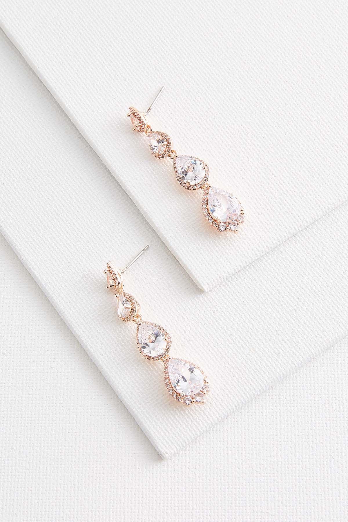 Tear Shaped Rose Gold Earrings