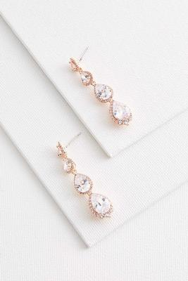 tear shaped rose gold earrings