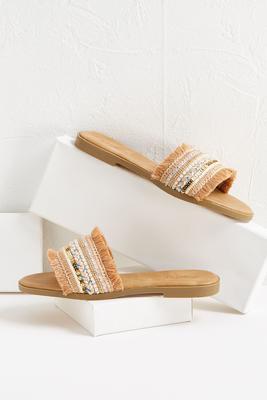 boho slide sandals