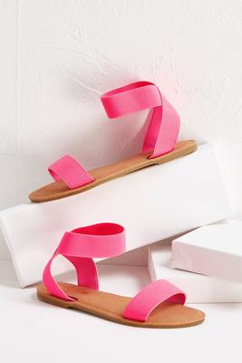 neon stretch band sandals