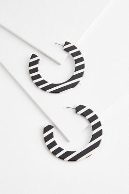 black and white stripe hoops