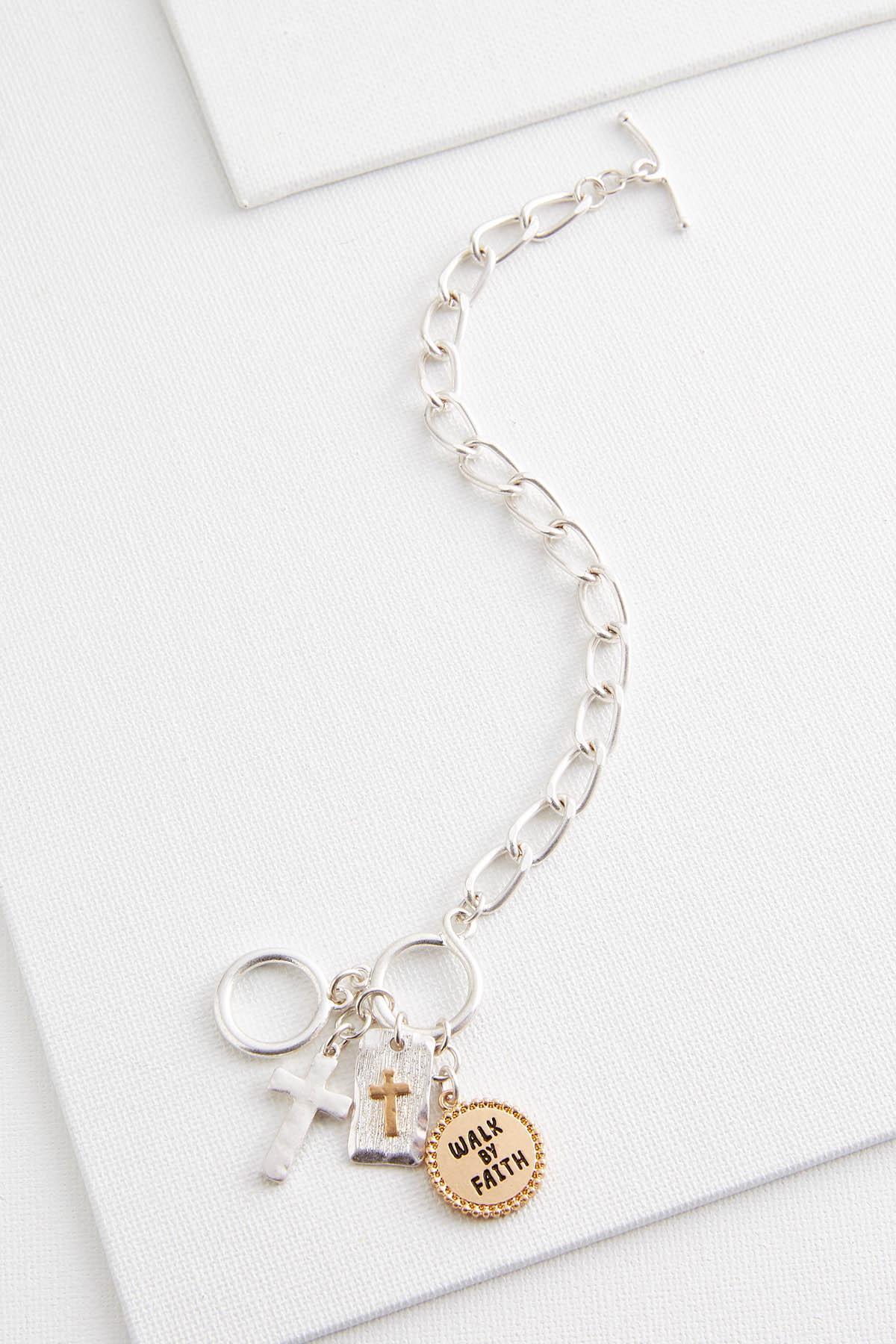 Walk By Faith Cluster Bracelet