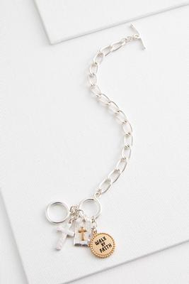 walk by faith cluster bracelet