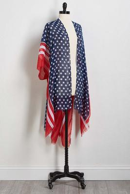 embellished stars and stripes kimono