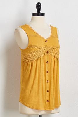 buttoned crochet tank