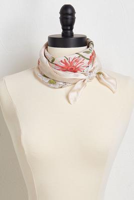 garden floral neckerchief