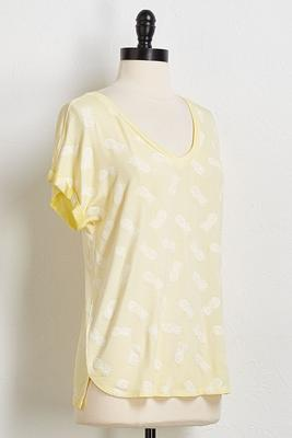 pineapple v-neck tee