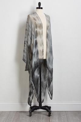 sheer tie dye kimono