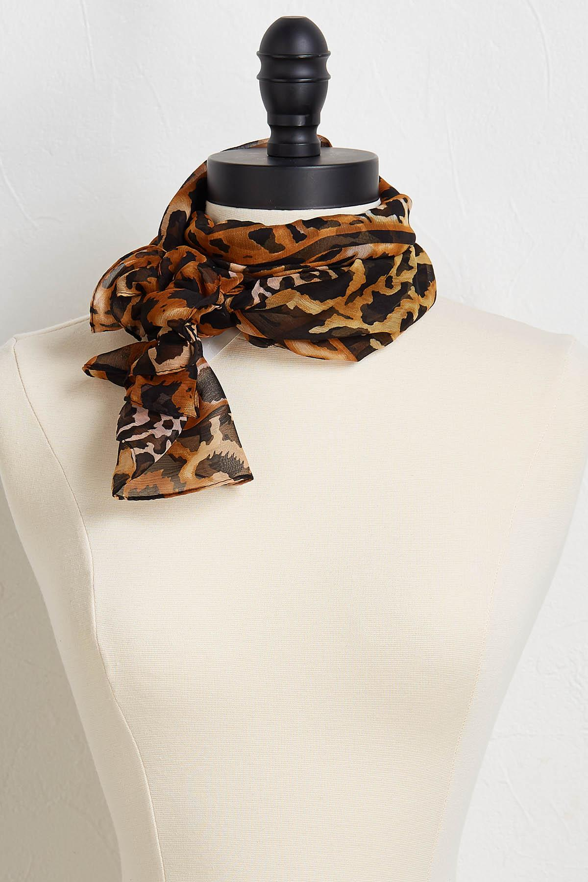 Square Animal Print Scarf