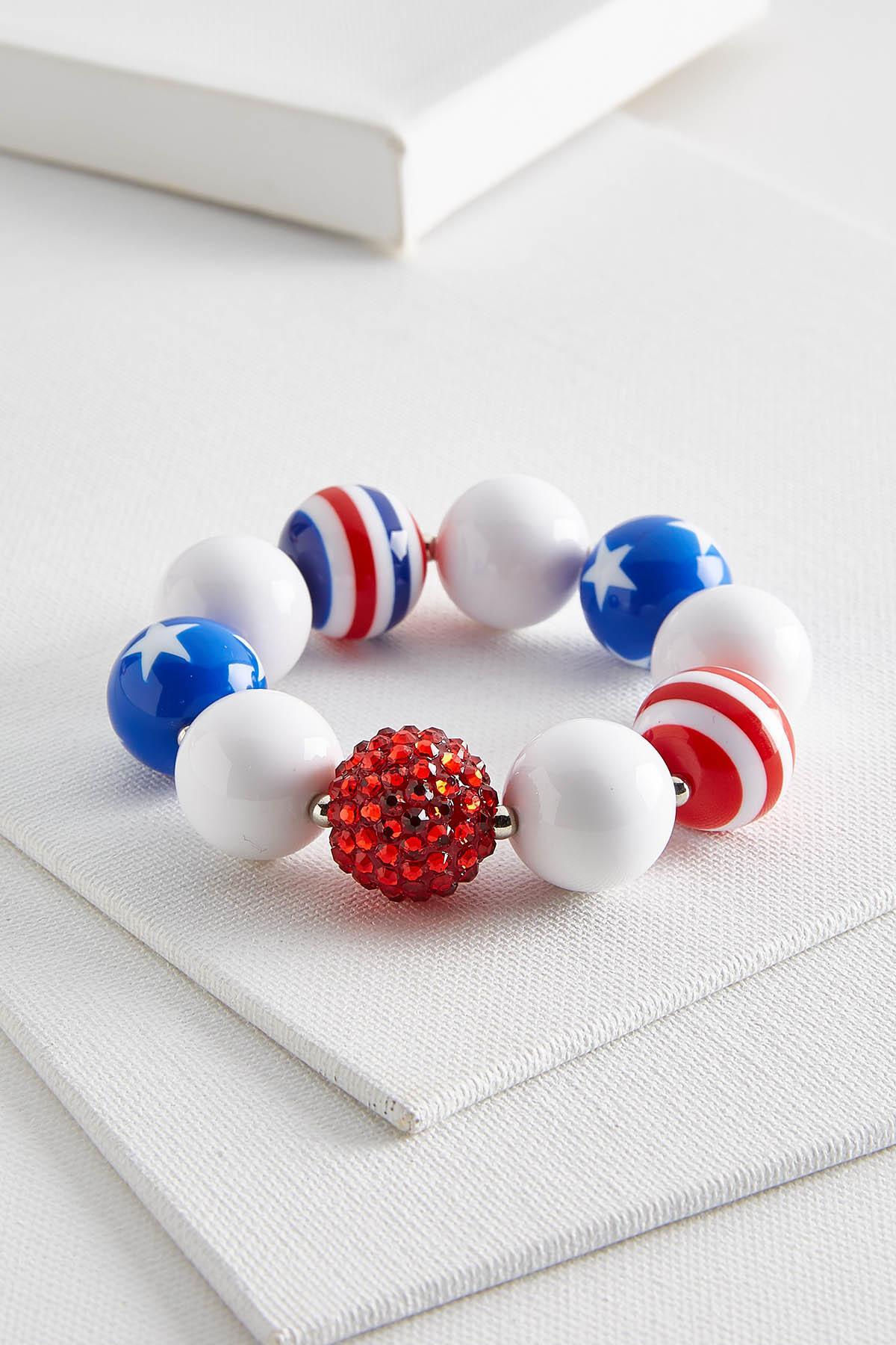 Stars And Stripes Stretch Bracelet