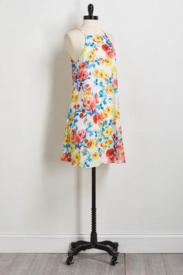 pretty floral shift dress
