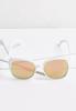 White Oversized Sunglasses