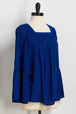 gauzy bell sleeve top