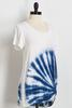 Knotted Tie Dye Burst Tee
