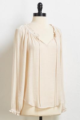 tied peasant top