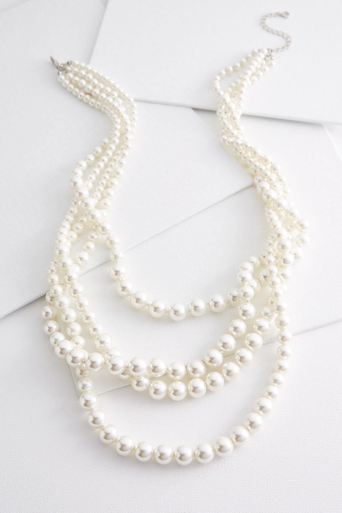 Layered Graduated Pearl Necklace