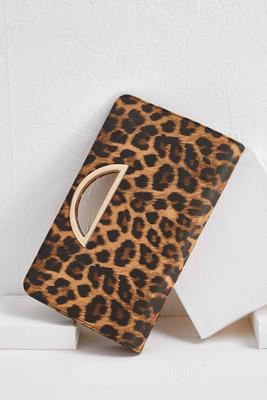 leopard porthole clutch
