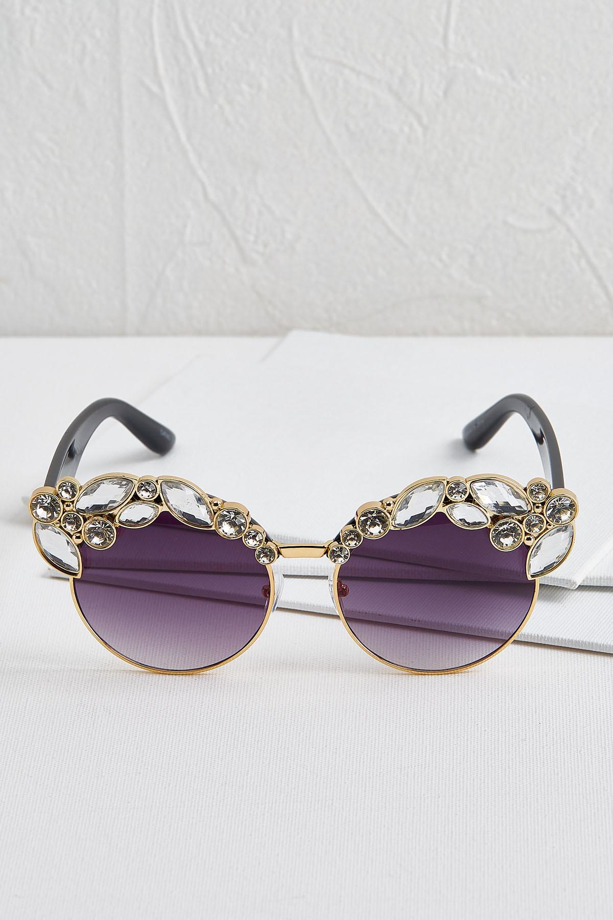 Glitzy Cat Eye Sunglasses