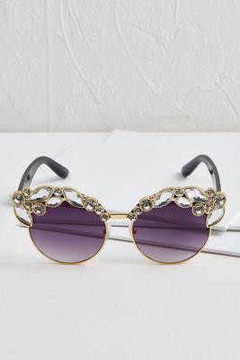 glitzy cat eye sunglasses