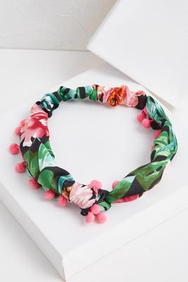 tropical palm headband