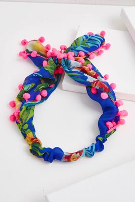 tropical pom-pom headband