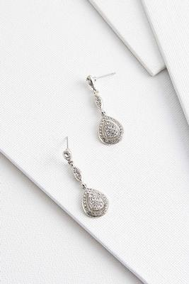 linear pave stone earrings