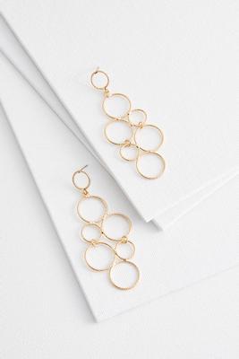 mod textured circle earrings