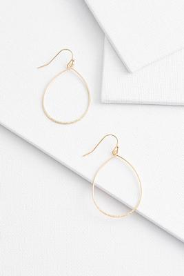 tear shaped wire earrings