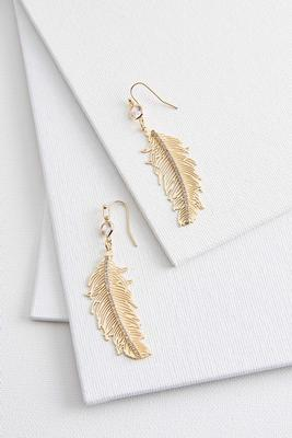 laser feather earrings