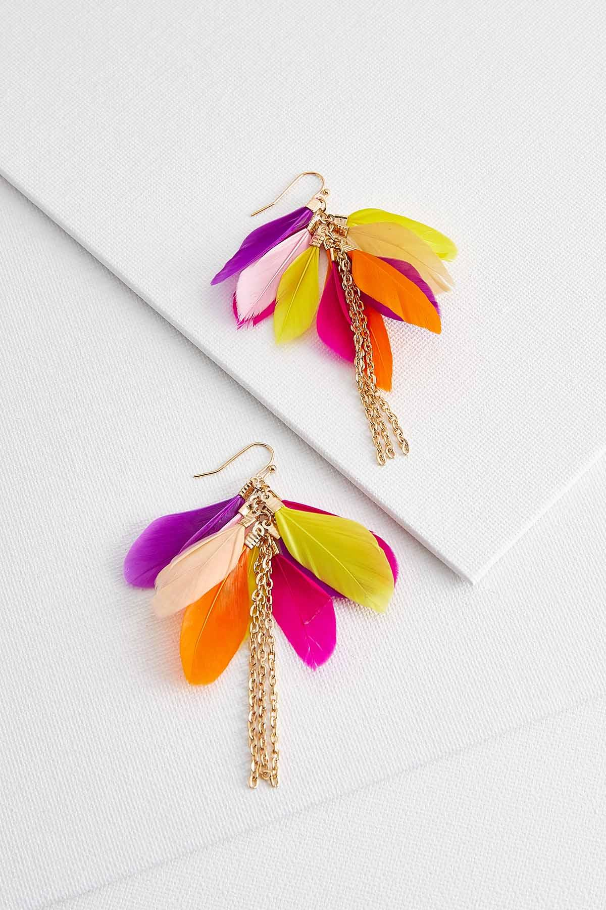 Bright Feather Earrings