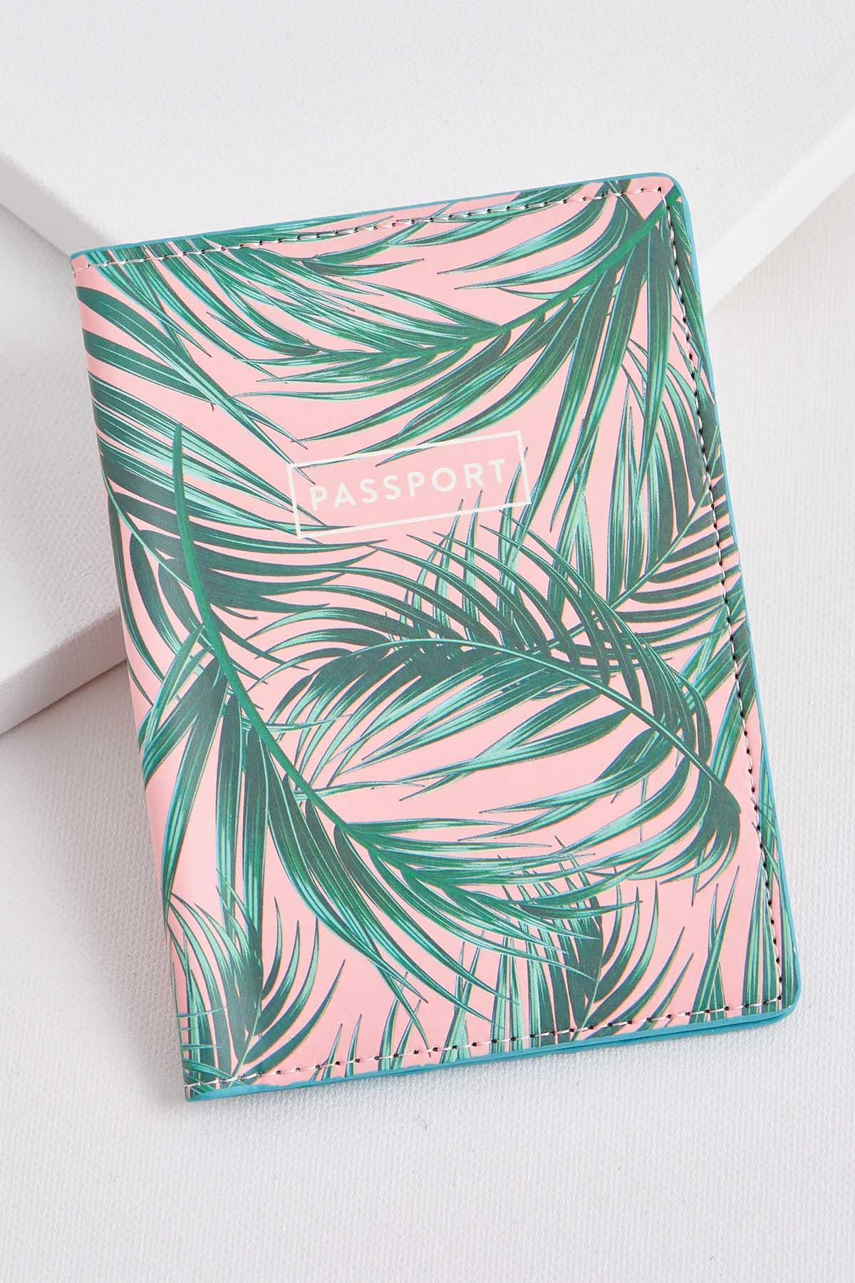Palm Leaf Passport Case